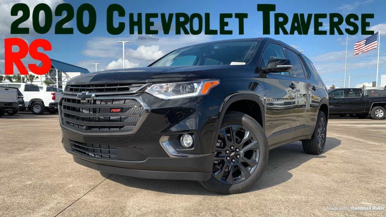 2020 Chevrolet Traverse Rs 3 6l V6 Start Up Review Youtube