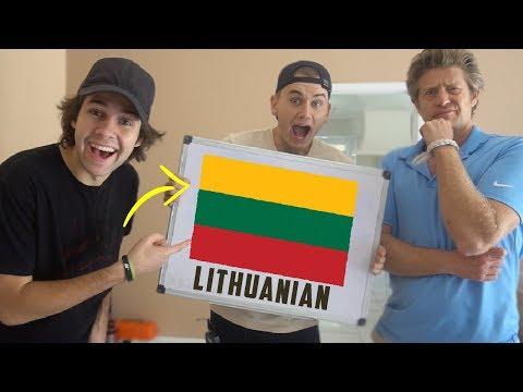 YOUTUBERS SPEAK LITHUANIAN!