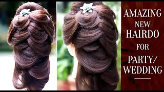 Hairstyle For Wedding Party   Easy Hairstyle Tutorial   Step By Step Hair Do Tutorial   Khoobsurat