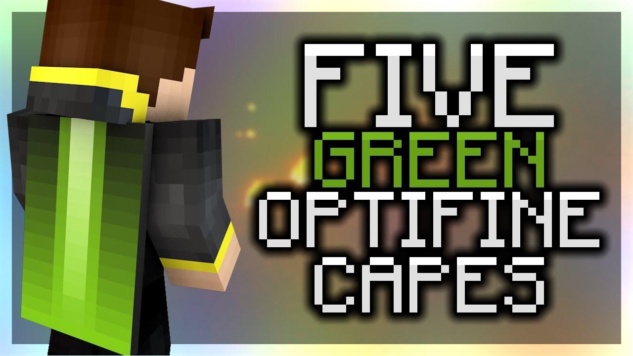 5 green optifine cape