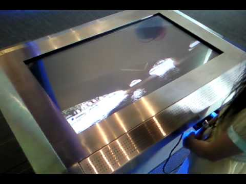 """Touch Table Demo 3 (built on Silverlight) - HD 42"""" Display"""