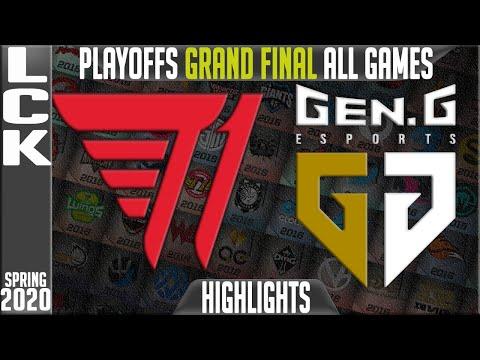T1 vs GEN Highlights ALL GAMES | LCK Spring 2020 Playoffs GRAND FINAL | T1 vs Gen.G