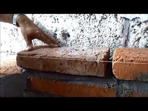 Como construir una pared de ladrillo doovi - Como se hace una pared de ladrillos ...