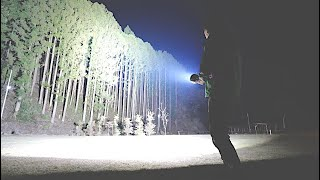 YouTube動画:森で世界1明るいライト使ってみた