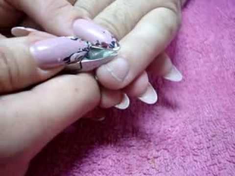 Рисунки на ногтях иголкой схемы для начинающих