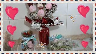Fresas cubiertas de chocolate para 14 de febrero/día del amor y la amistad