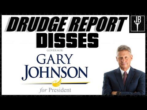 Drudge Report Disses Gary Johnson