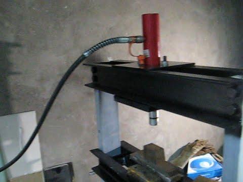 Самодельный гидравлический пресс ч2 / DIY Hydraulic Press P2