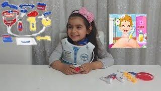 oyuncak bebekler hasta olmus doktor almina hanım muayene ediyor ,oyuncakalar ve ben