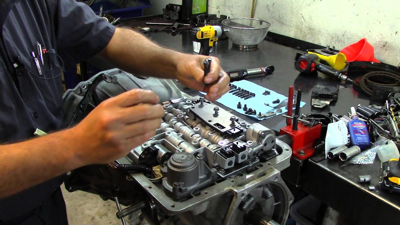4l60e transmission - valve body installation