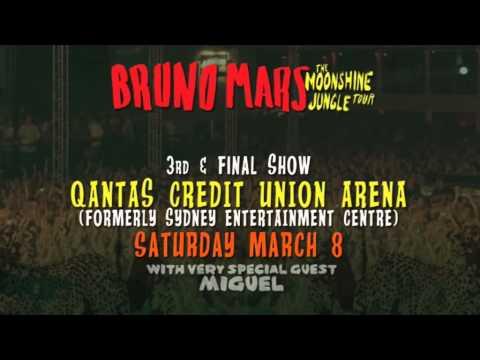 Bruno Mars Moonshine Jungle Tour - Sydney Final Ticket Release