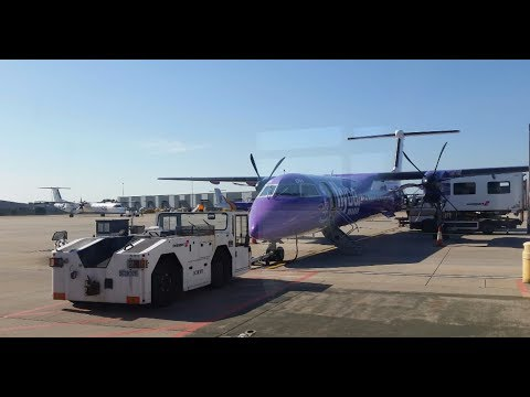 Flybe BE453 - Descent, Go-around, Landing + Taxi - Jersey CI 17/6/17