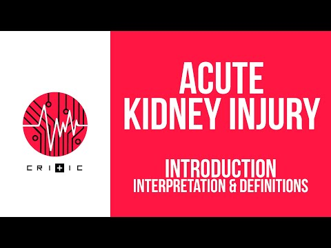 Introduction to Acute Kidney Injury: interpretation & definitions
