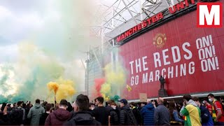Manchester United fans storm Old Trafford in protest against club owners