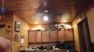 kid breaks light in ceiling fan