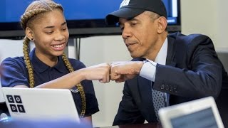 Repeat youtube video President Obama does the Hour of Code
