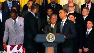 "LeBron James tells President Obama ""Mama, I Made It"""