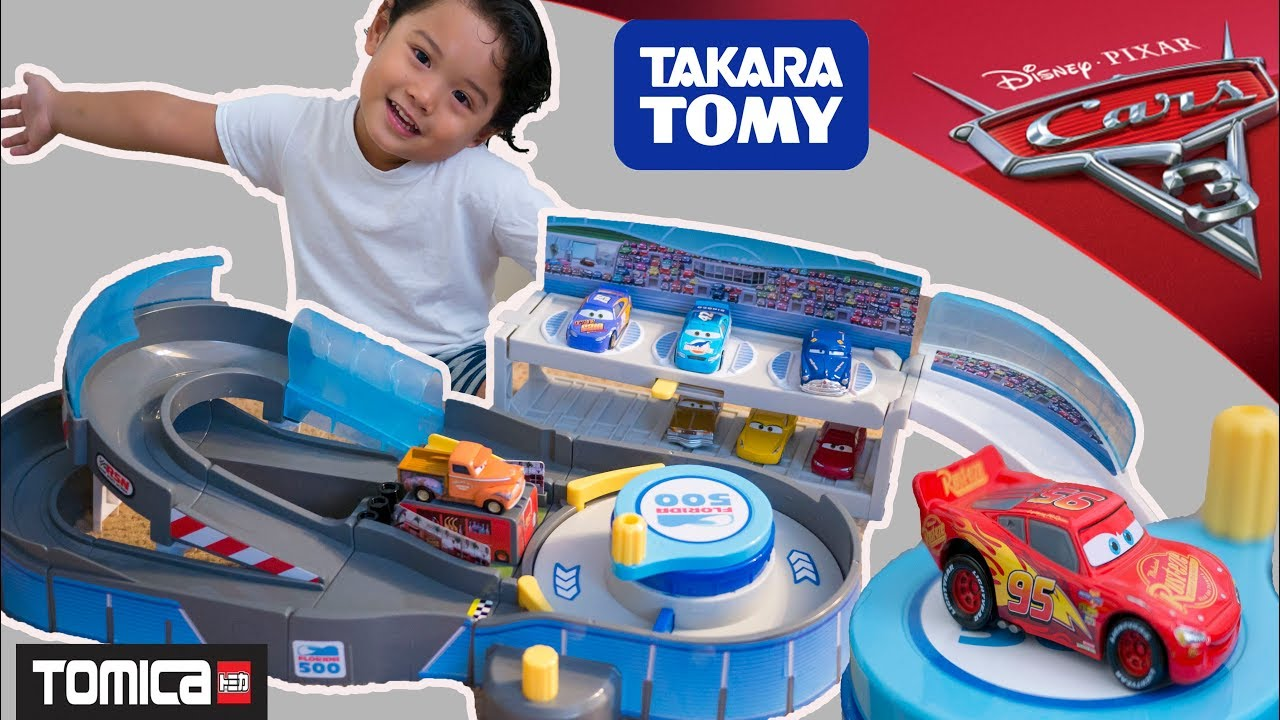 New Cars 3 Florida 500 Tomica Playset Round And Racing