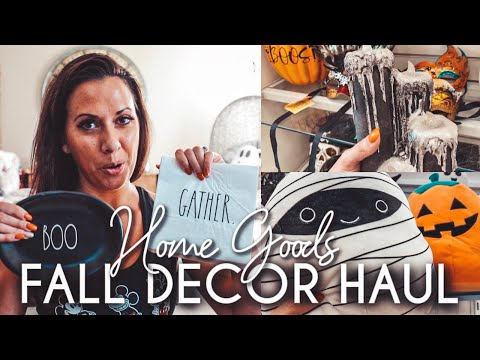 Huge Halloween And Fall Decor Haul | Home Goods & Marshalls