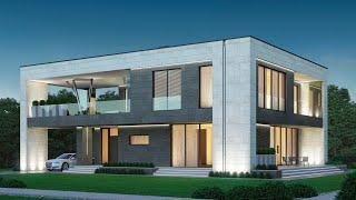 Проект Монолитного Дома 15 на 20. Обзор дома. Проекты Домов и Строительство под ключ | М-361