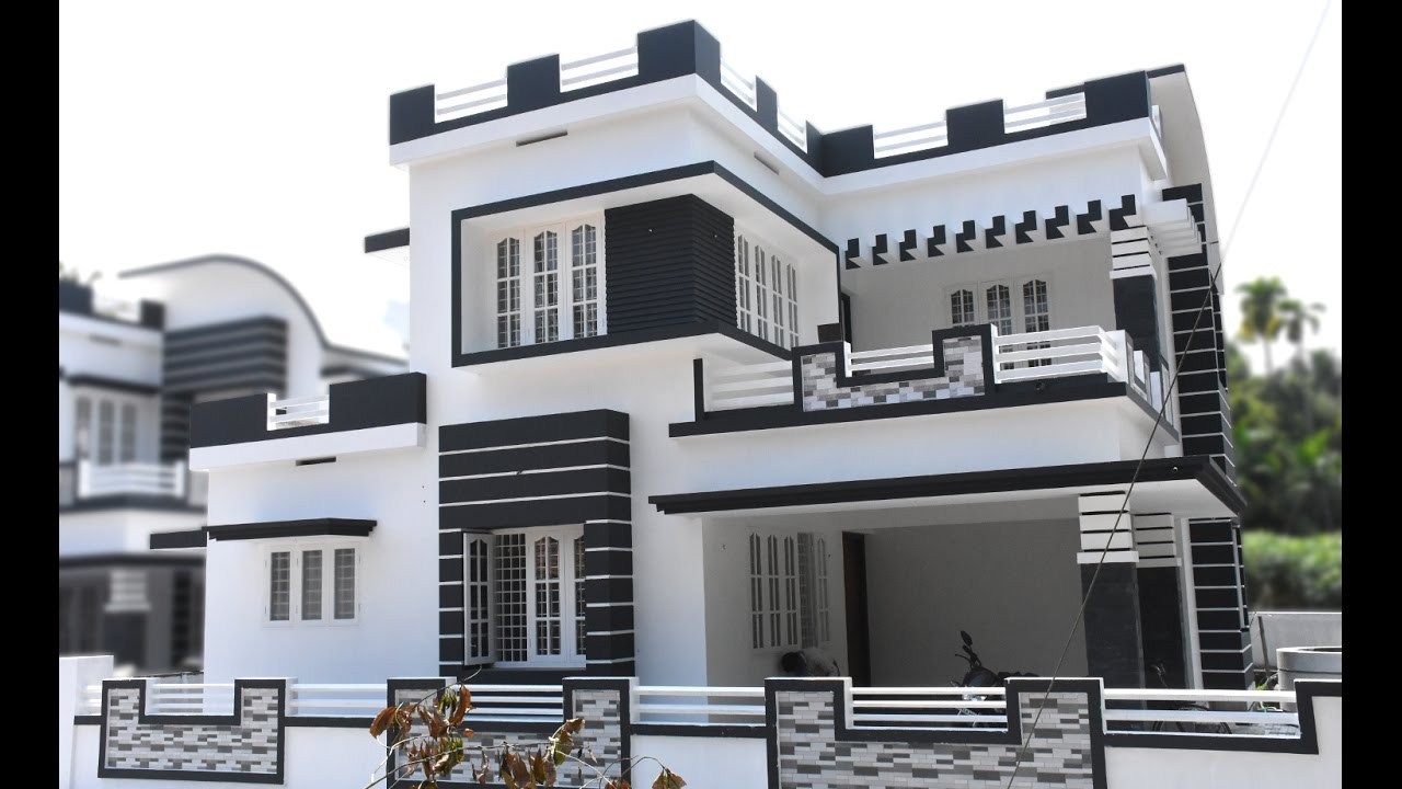 Athani 5 cents plot and 1750 sq ft modern style house