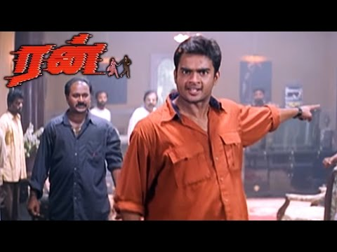 Run | Run Tamil full Movie Scenes | Madhavan Challenges Atul Kulkarni | Run Mass scene | Run Movie