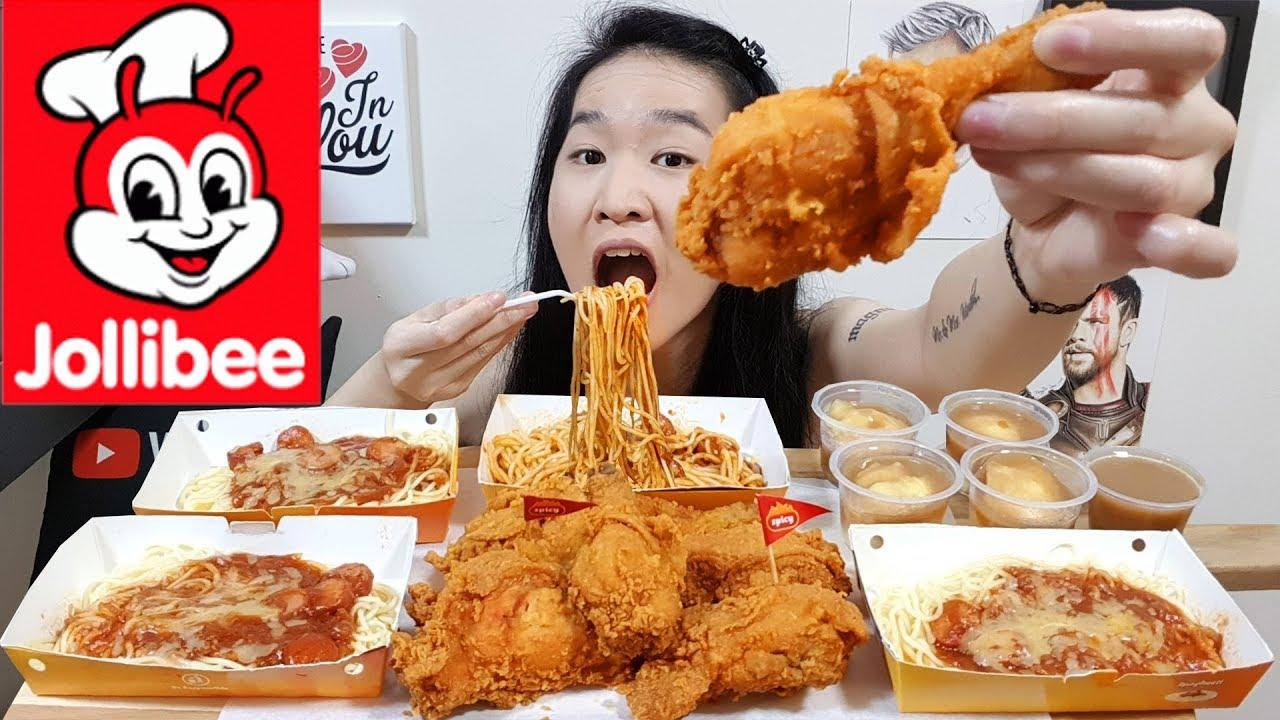 Jollibee Chicken Joy Spicy Fried Chicken Spaghetti Noodles Mash