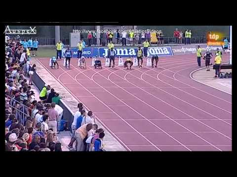 100m men meeting Madrid 2013, Nesta Carter 9.87 (+1.8m/s)