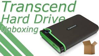 Transcend 1TB USB 3.0 External Hard Drive Unboxing