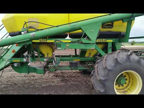 Planting Wheat  With A John Deere Air Drill