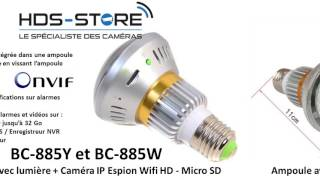 [PRESENTATION VIDEO] BC-885Y BC-885W Ampoule lumière caméra surveillance HD 1.3M ONVIF 220V E27