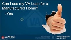 VA Loans for Manufactured Homes