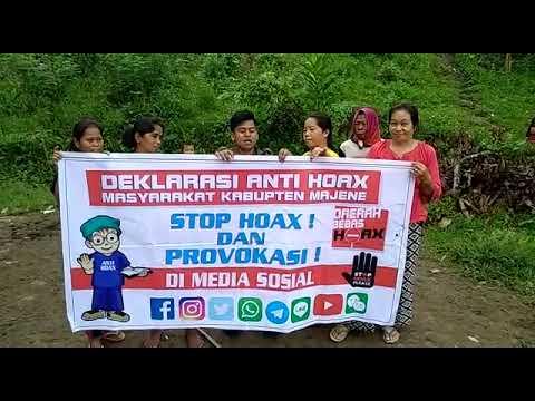 Polres Majene~Deklarasi anti Hoax warga Desa Lombang Timur