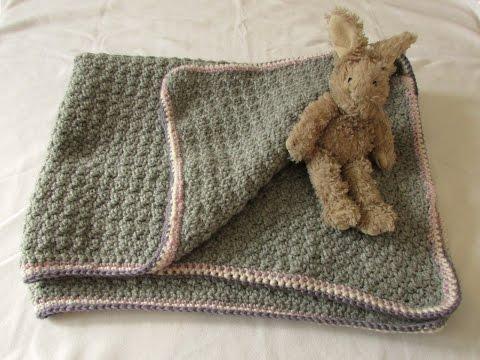 VERY EASY crochet baby blanket for beginners – quick afghan / throw