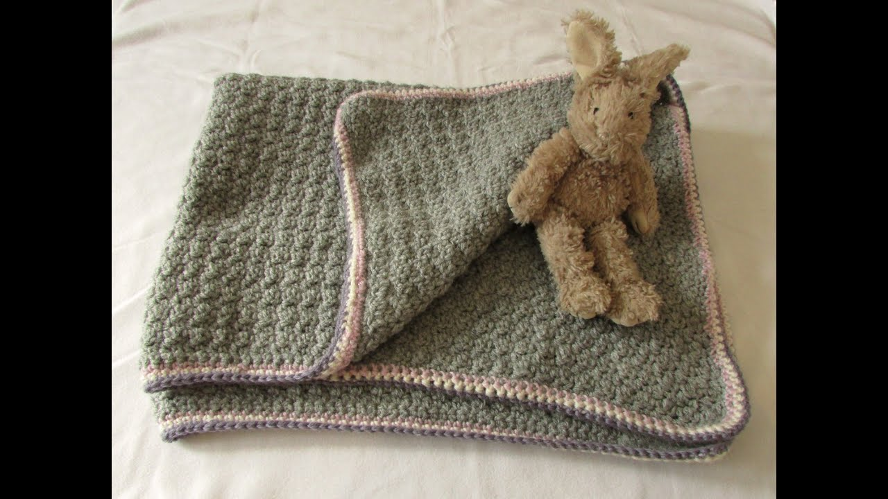 VERY EASY crochet baby blanket for beginners - quick afghan / throw ...