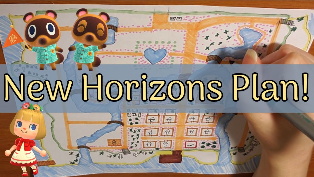 Planning Out My Animal Crossing New Horizons Island Youtube