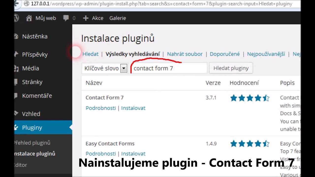 WordPress Formulář - YouTube