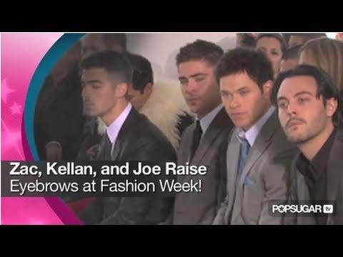 Zac Efron, Kellan Lutz, and Joe Jonas Raise Eyebrows at Fashion Week!