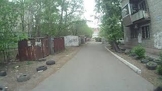 Велосипед пугает собаки в Хабаровске