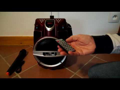 Malone PSP 6AK RD   Enceinte de karaoke Bluetooth portable Avis, Ensemble ultra complet de haute qua