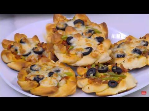 بيتزا ورد ميني | نجلاء الشرشابي