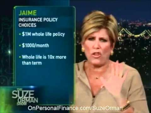 Suze Orman – Term and Life Insurance Comparison