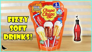 Fizzy Drinks Chupa Chups Lollipops Taste Test & Review! Cola, Tropical & Orange! | Birdew Reviews