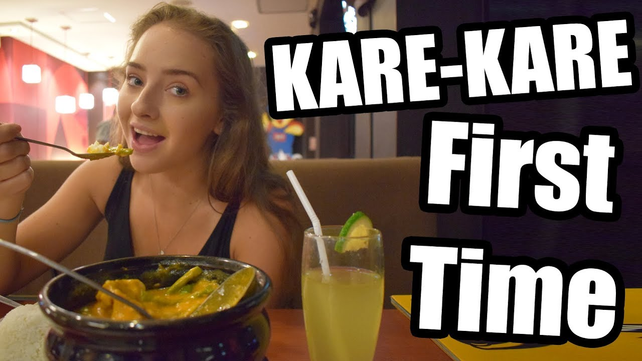 BRITISH COUPLE EAT KARE-KARE FOR THE FIRST TIME! BRITS IN THE PHILIPPINES  VLOG