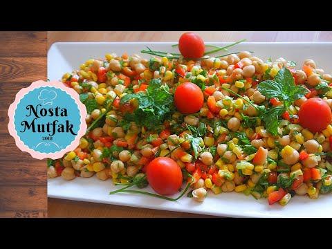 Doyuran Salata: Nar Ekşili Nohut Salatası Tarifi – Chickpea Salad Recipe