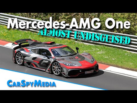 Mercedes-AMG One Hypercar testing almost undisguised at Nürburgring with engine fail by second car