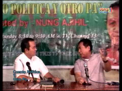 """""""Cuento Politica Y Otro Pa"""" TV Interview of Joey Tugung"""