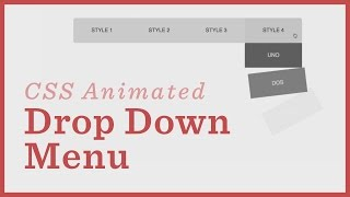 Drop Down Menu — CSS Animations
