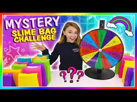 MYSTERY SLIME BAG CHALLENGE | Kayla Davis