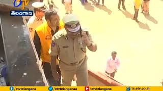 DGP Mahender Reddy Review | From Helicopter at Madaram | Situation